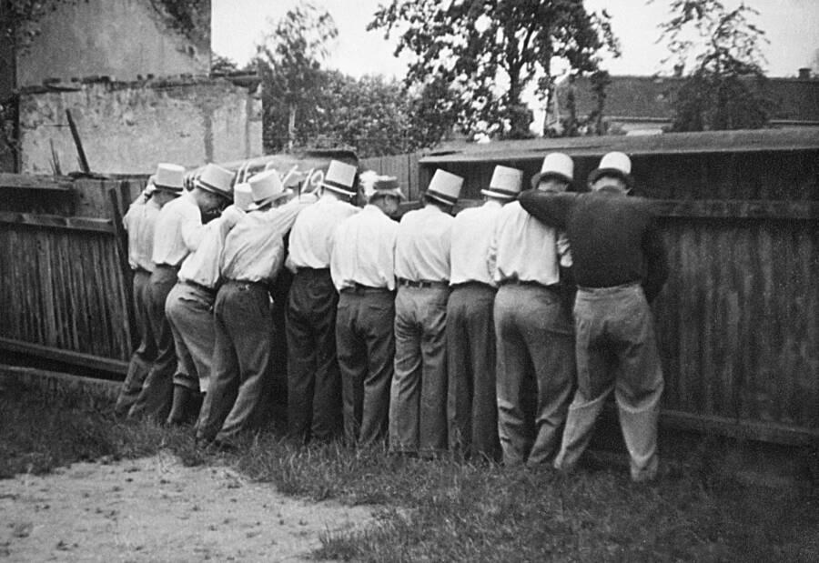 Oktoberfest Men Urinating Together