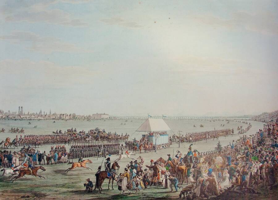 Painting Of The 1810 Oktoberfest Horse Race