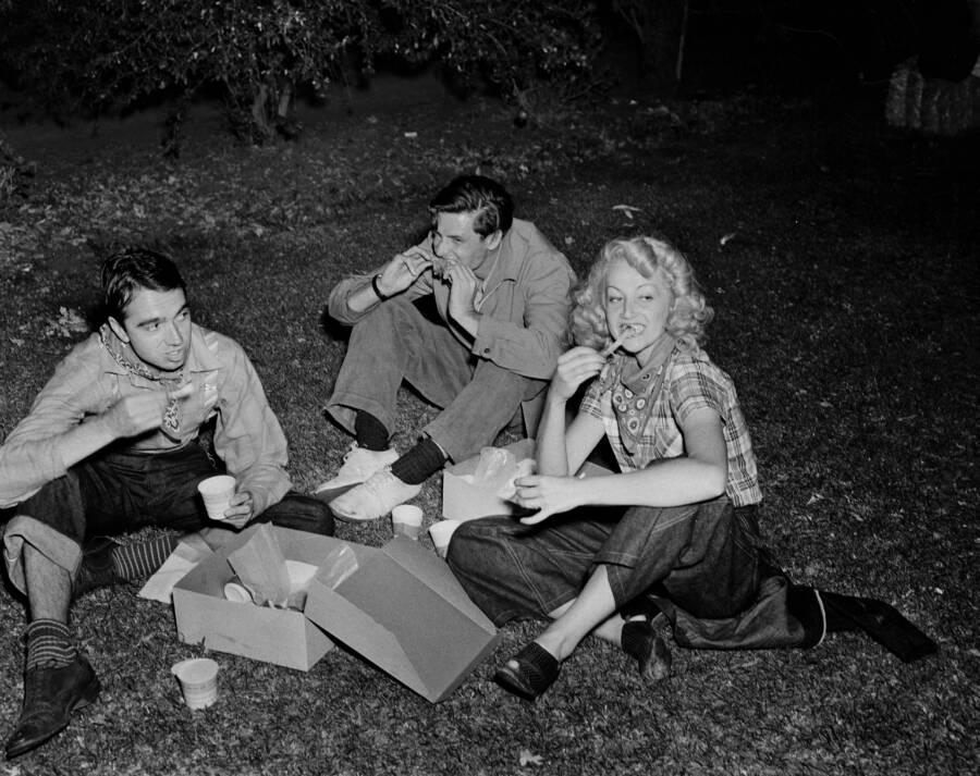 Paula Stone And Henry Willson At A Picnic
