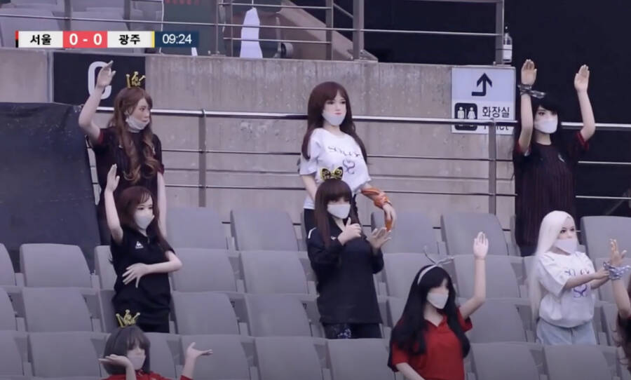 Sex Dolls In South Korean Stadium Stands