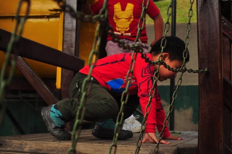 Spiderman Fan At La Paz Childrens Hospital