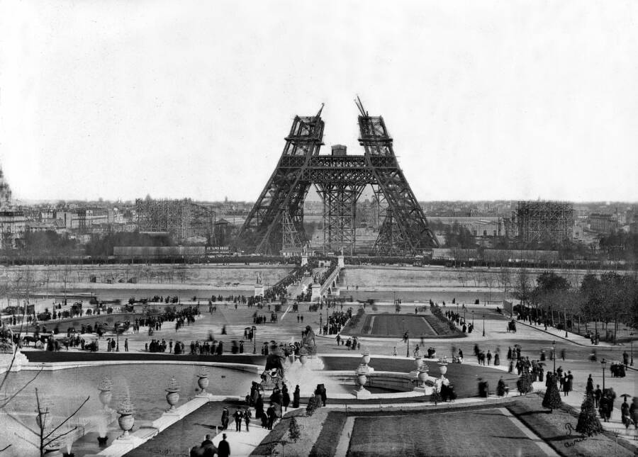Unfinished Eiffel Tower Construction