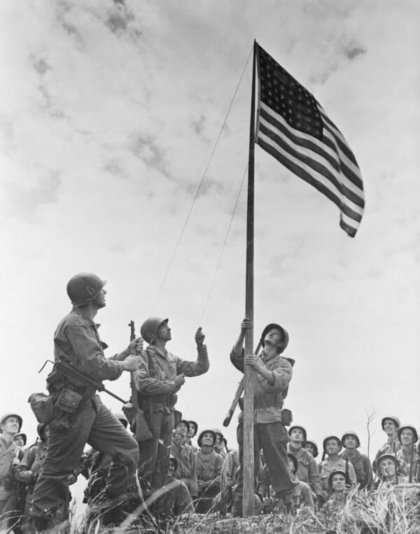 Us Flag Over Okinawa