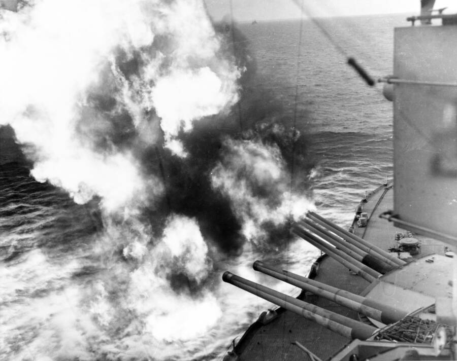 USS Nevada Firing On DDay