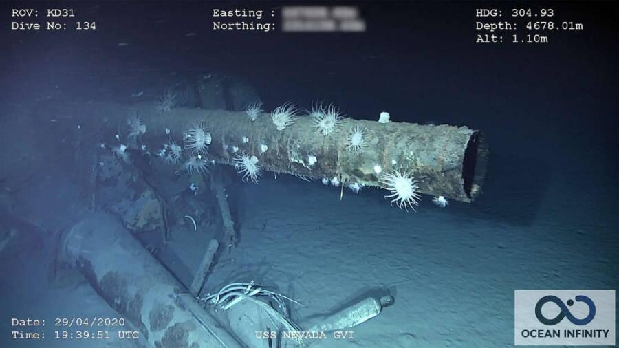 USS Nevada Mast