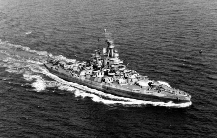 'USS Nevada' Off The American Atlantic Coast