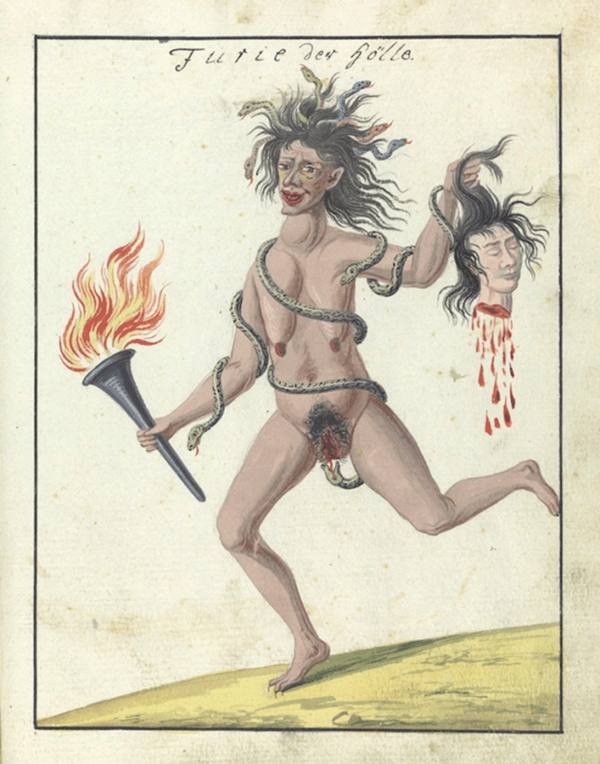 Witch Carrying Severed Head