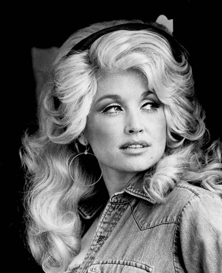 Vintage Photo Of Dolly Parton In Hoop Earrings