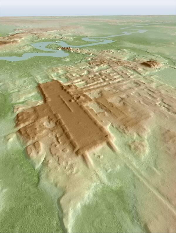 Aerial 3D Scan Of Aguada Fenix