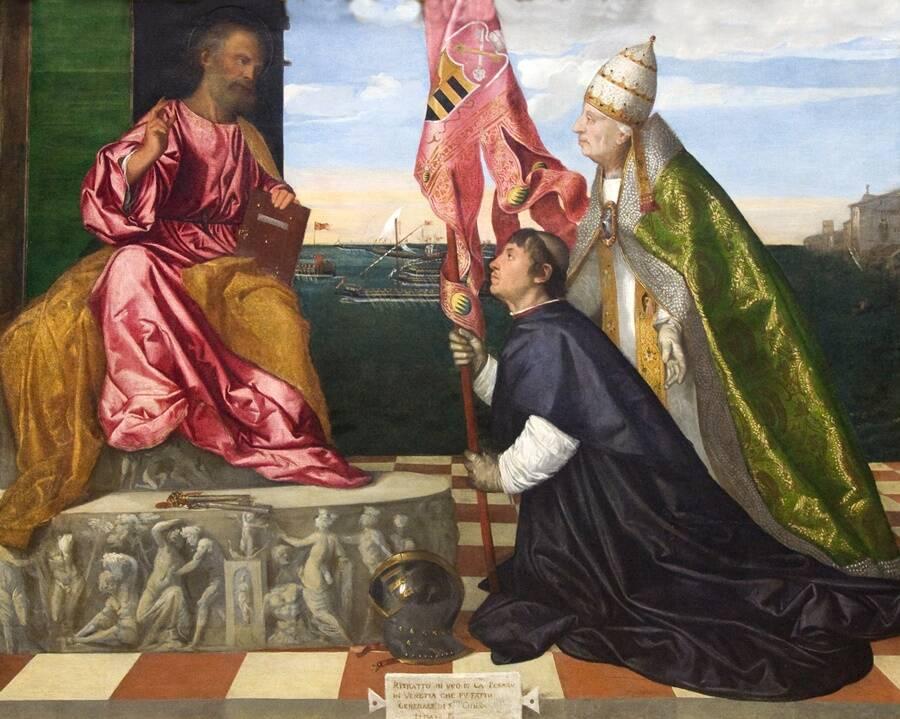 Pope Alexander VI With Jacop Pesaro