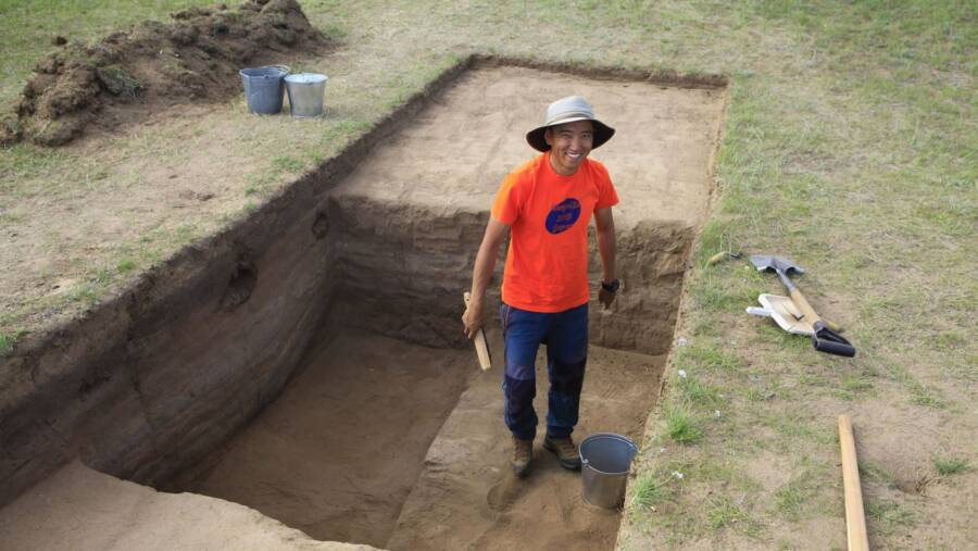 Archaeological Dig At Genghis Khan Wall