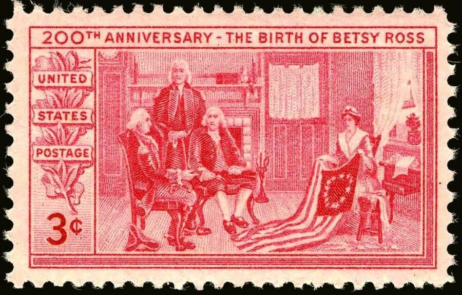 Bicentennial Betsy Ross Stamp