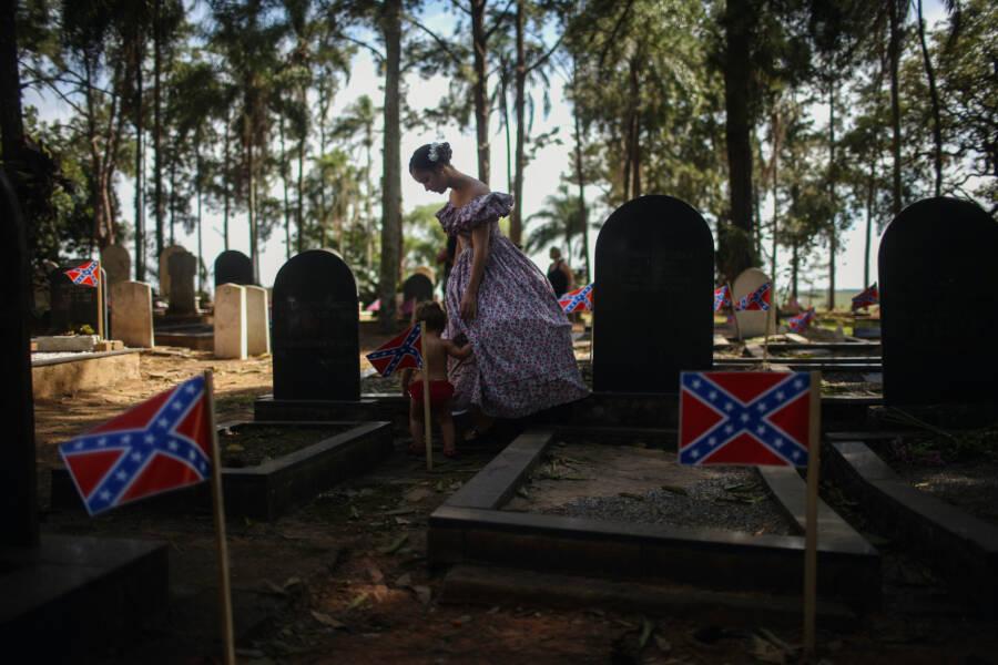 Confederate Graveyard In Brazil