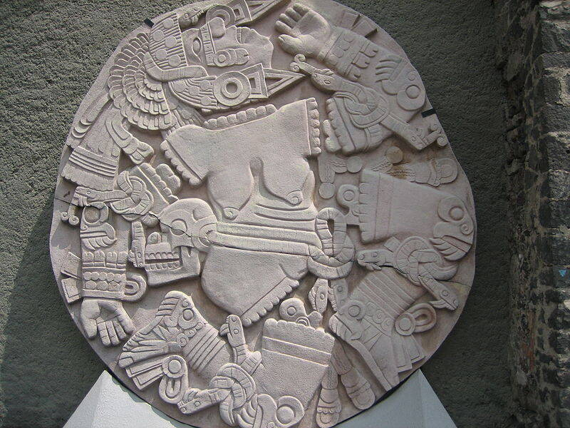 Coyolxauhqui Relief At Templo Mayor