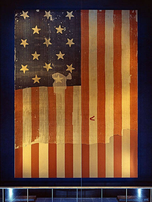Display Of The Star Spangled Banner