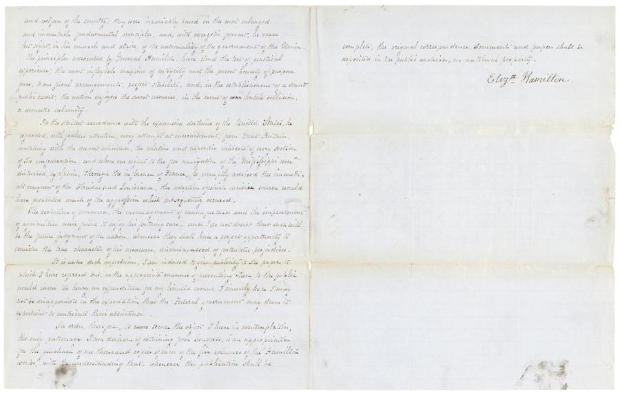 Eliza Hamiltons Petition