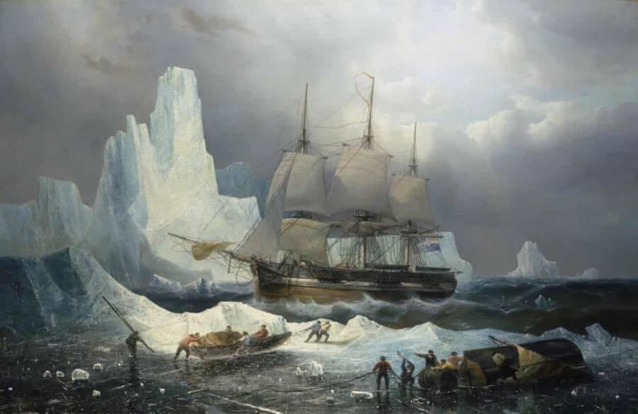 Erebus On Ice Painting