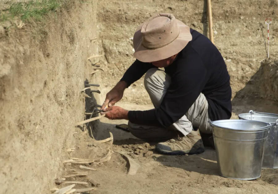 Excavation At The Genghis Khan Wall