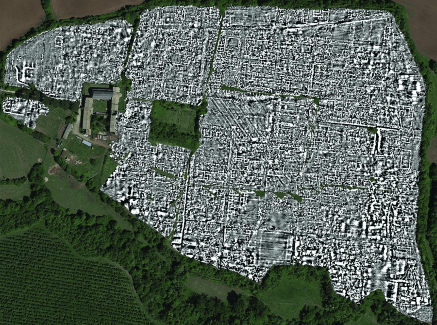 Falerii Novi From Above With 3d Scans