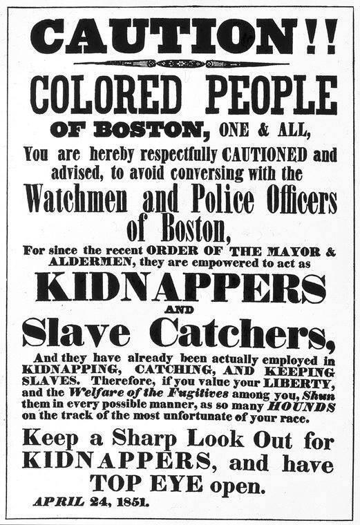 Fugitive Slave Law Warning