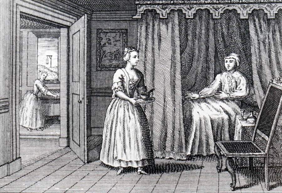 Illustration Of A Woman About To Poison Her Husband