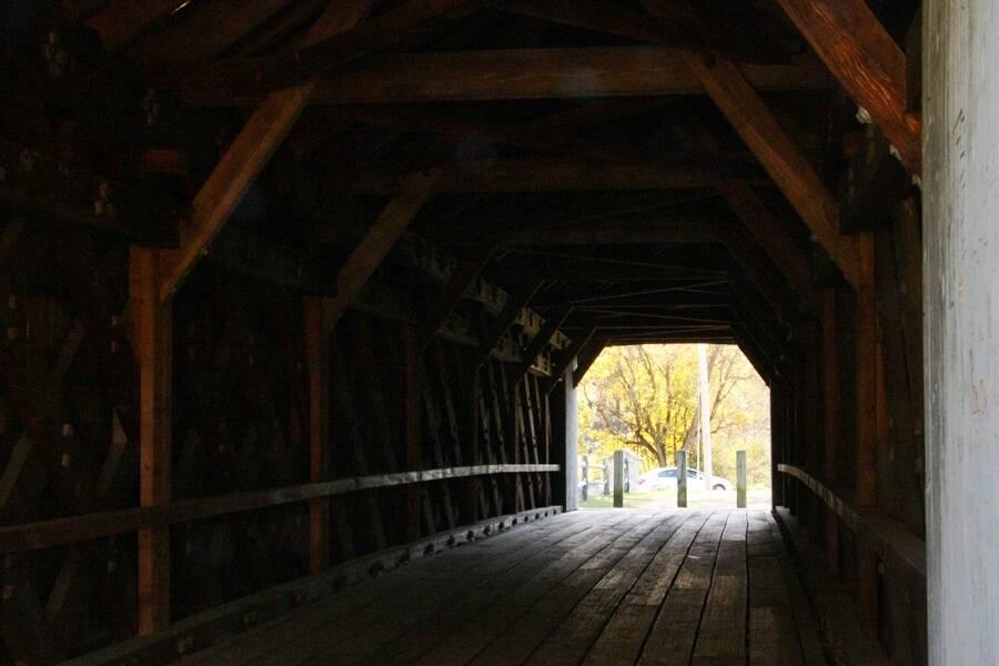 Inside The Sheffield Covered Bridge