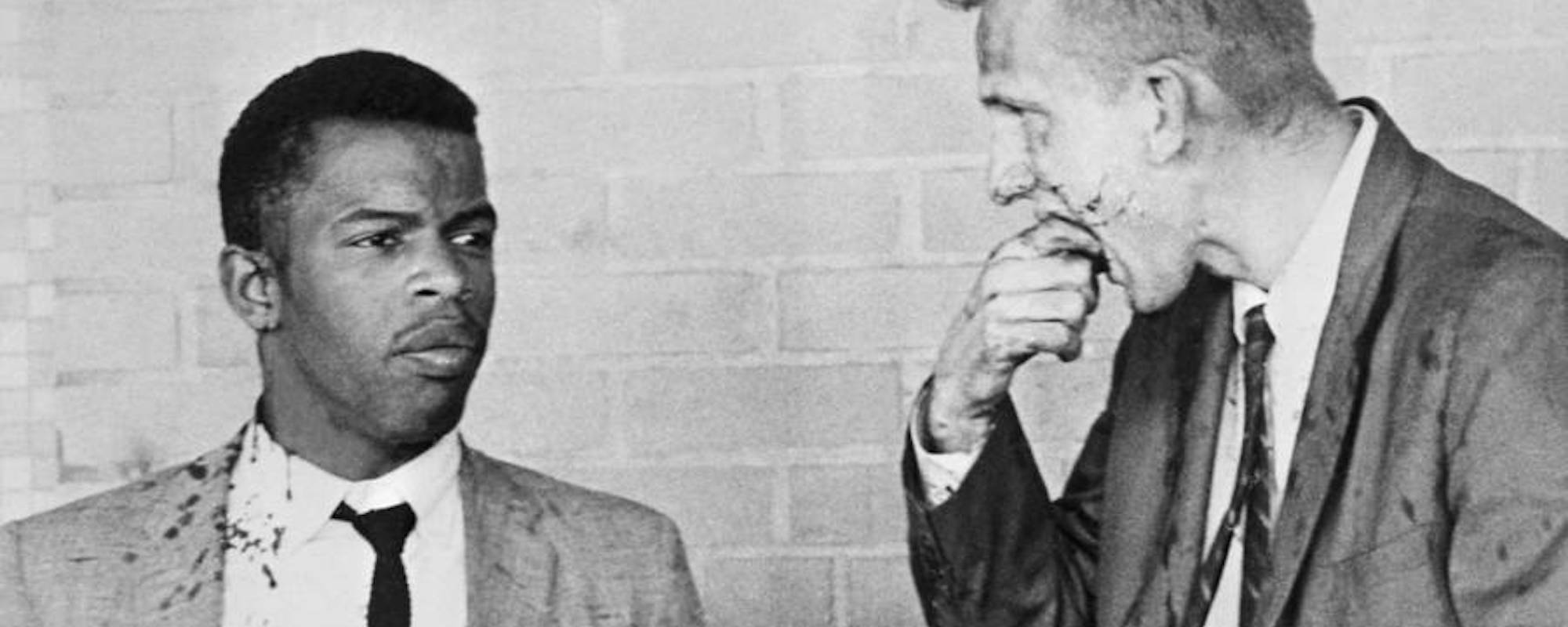 John Lewis And James Zwerg Covered In Blood