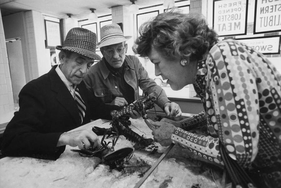 Julia Child Handling Lobster