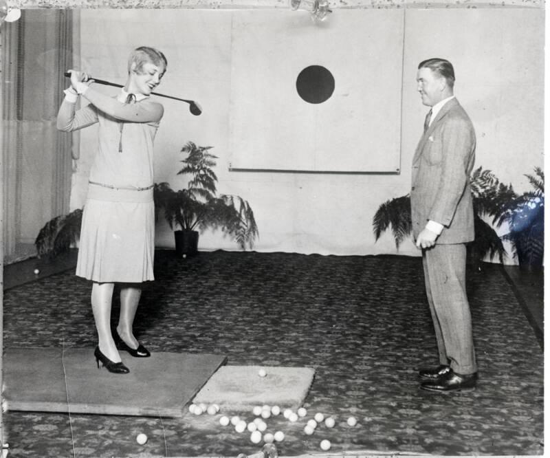 Justine Johnstone Playing Golf