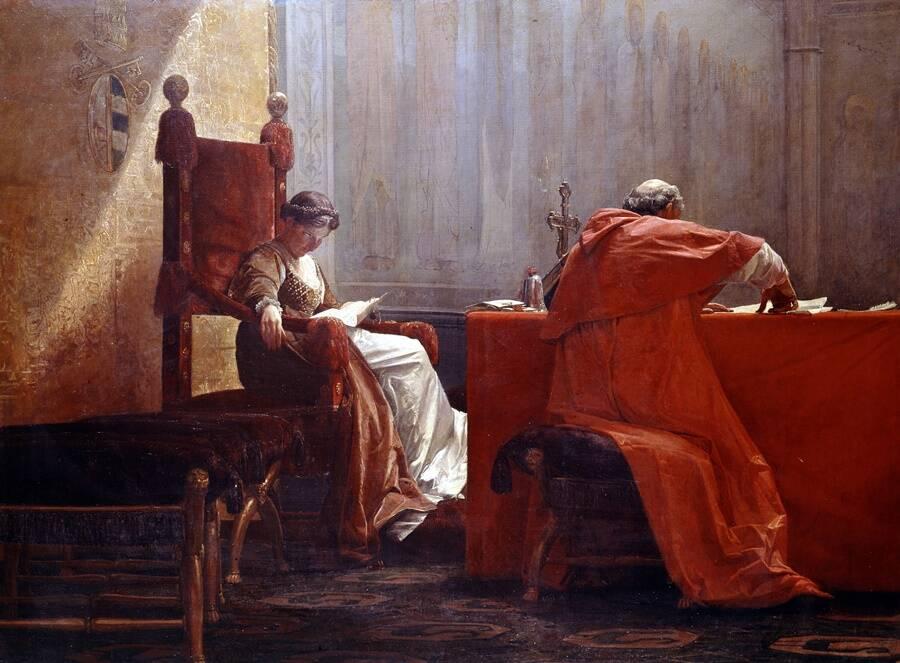 Lucrezia Borgia And Pope Alexander VI