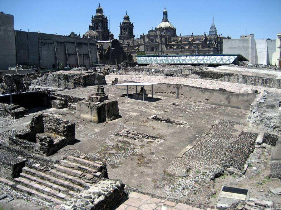 Templo Mayor In Mexico City Today