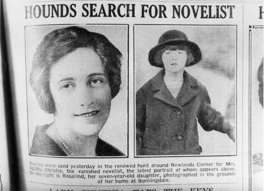 News Of Agatha Christie Disappearance