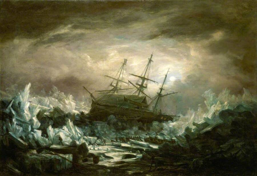 Painting Of The HMS Terror