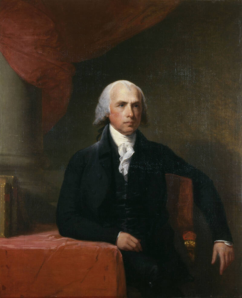 Portrait Of James Madison Sitting