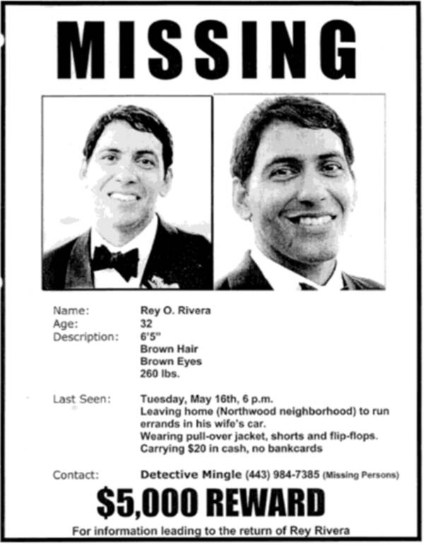 Rey Rivera Missing Poster