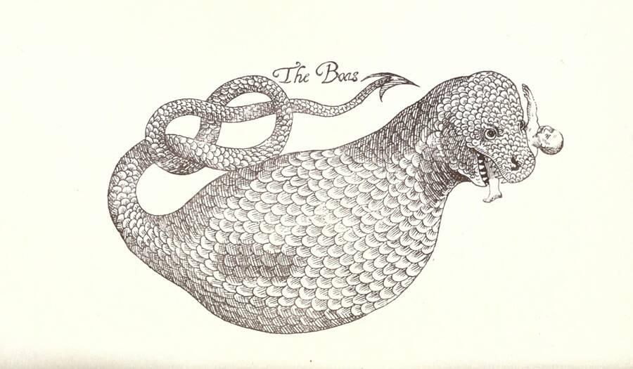 Sketch Of A Sea Dragon