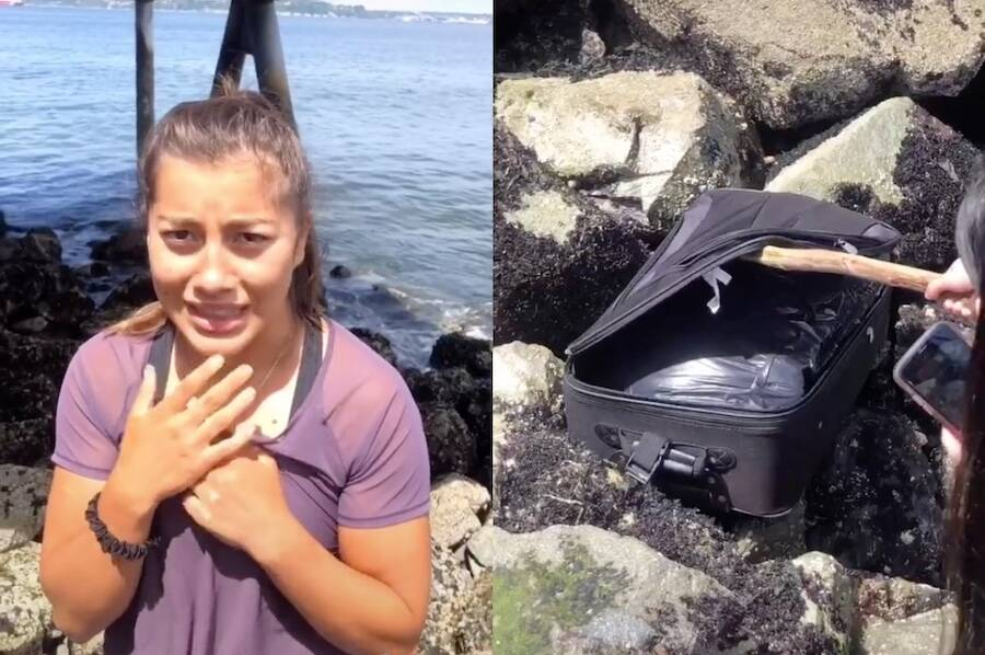 Seattle Tiktok Teen And Luggage