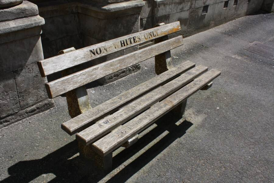 Segregated Bench In South Africa