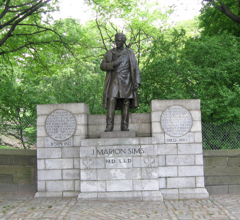 James Marion Sims Statue In Central Park