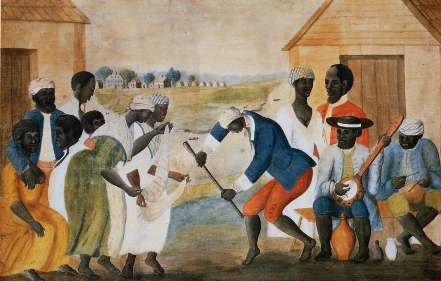 Painting Of Slaves On A Plantation