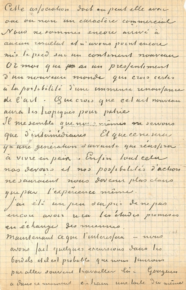 Page From Vincent Van Gogh And Paul Gauguin's Letter