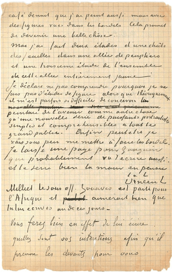 Another Page From Vincent Van Gogh And Paul Gauguin's Letter
