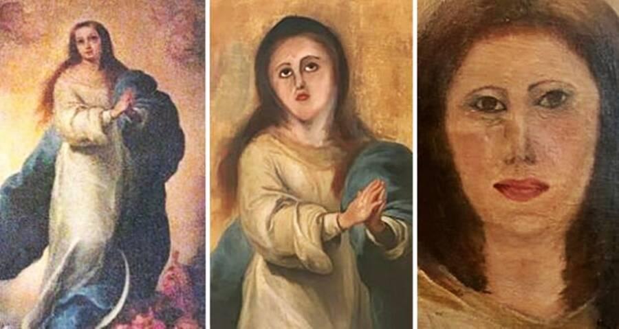 Virgin Mary Failed Art Restorations