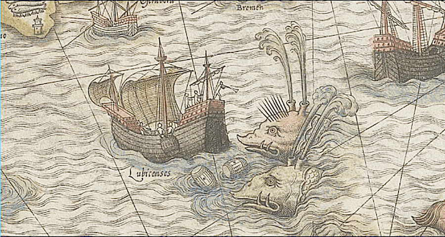 Drawing Of Mythical Whales