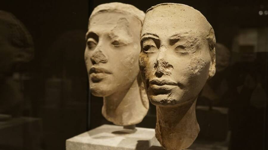 Akhenaten And Nefertiti Busts