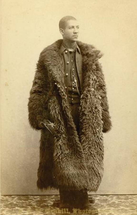 Buffalo Soldier In Buffalo Coat
