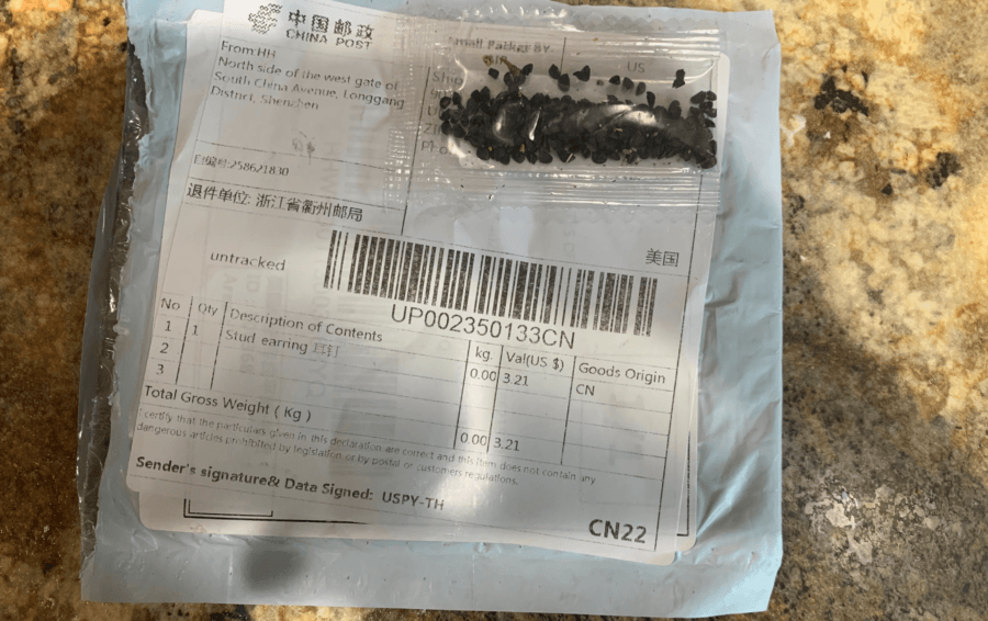 Chinese Seeds Delivered To Washington