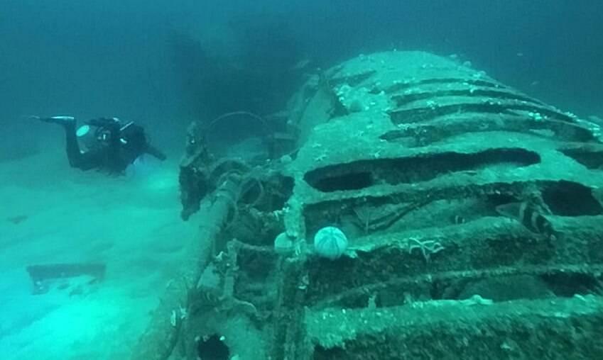 Closeup On Sunken U Boat