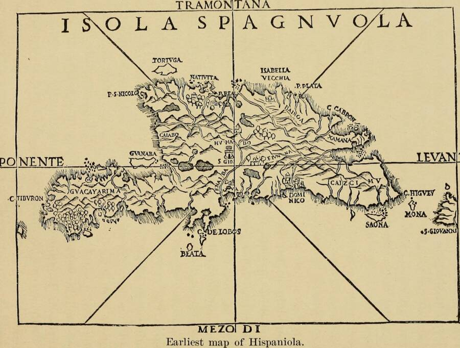 Map Of Hispanola With Tortuga