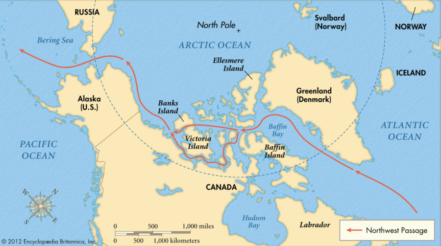 Map Of The Northwest Passage